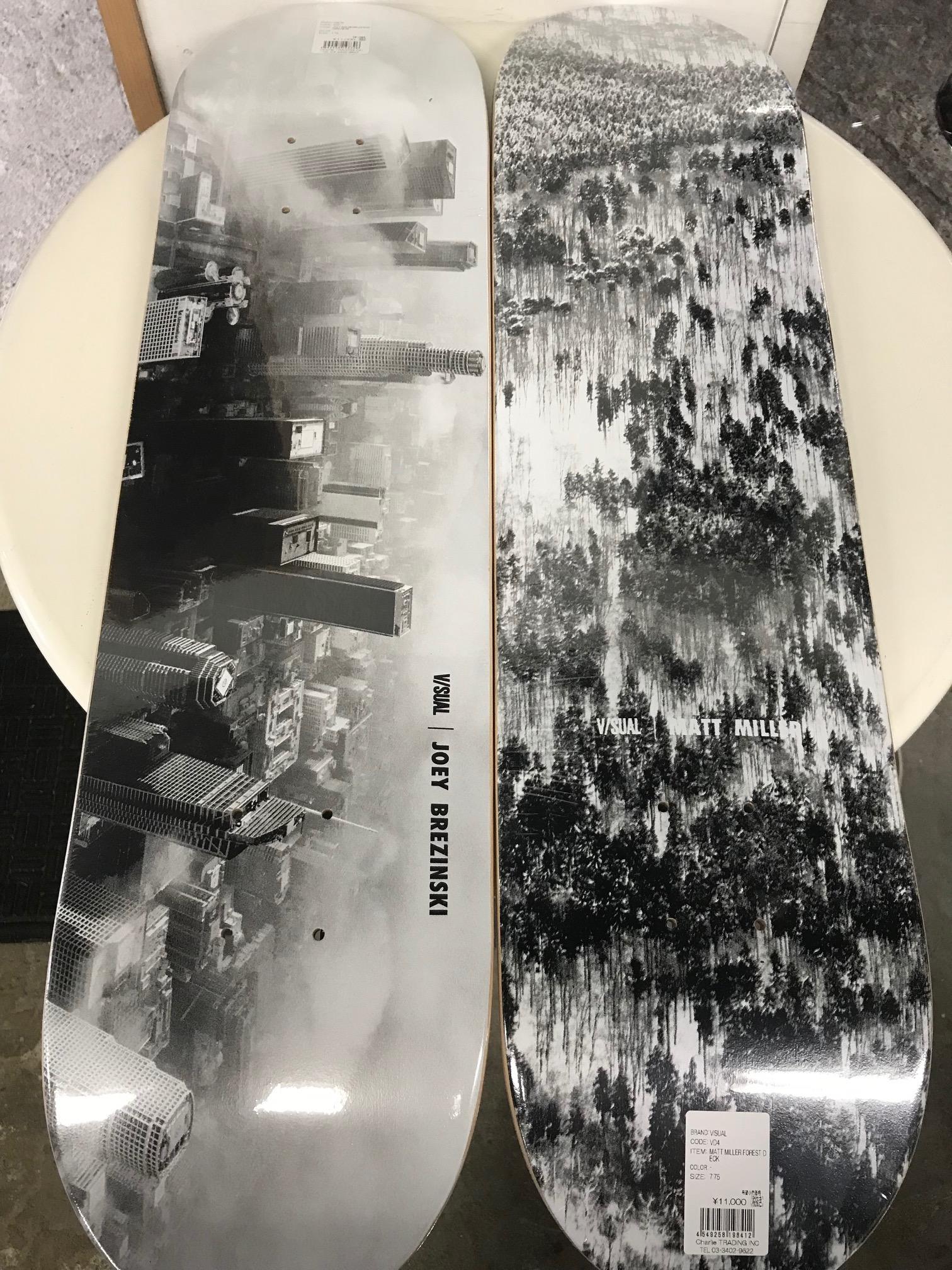 スケートアイテム V/SUAL skateboards入荷しました!!