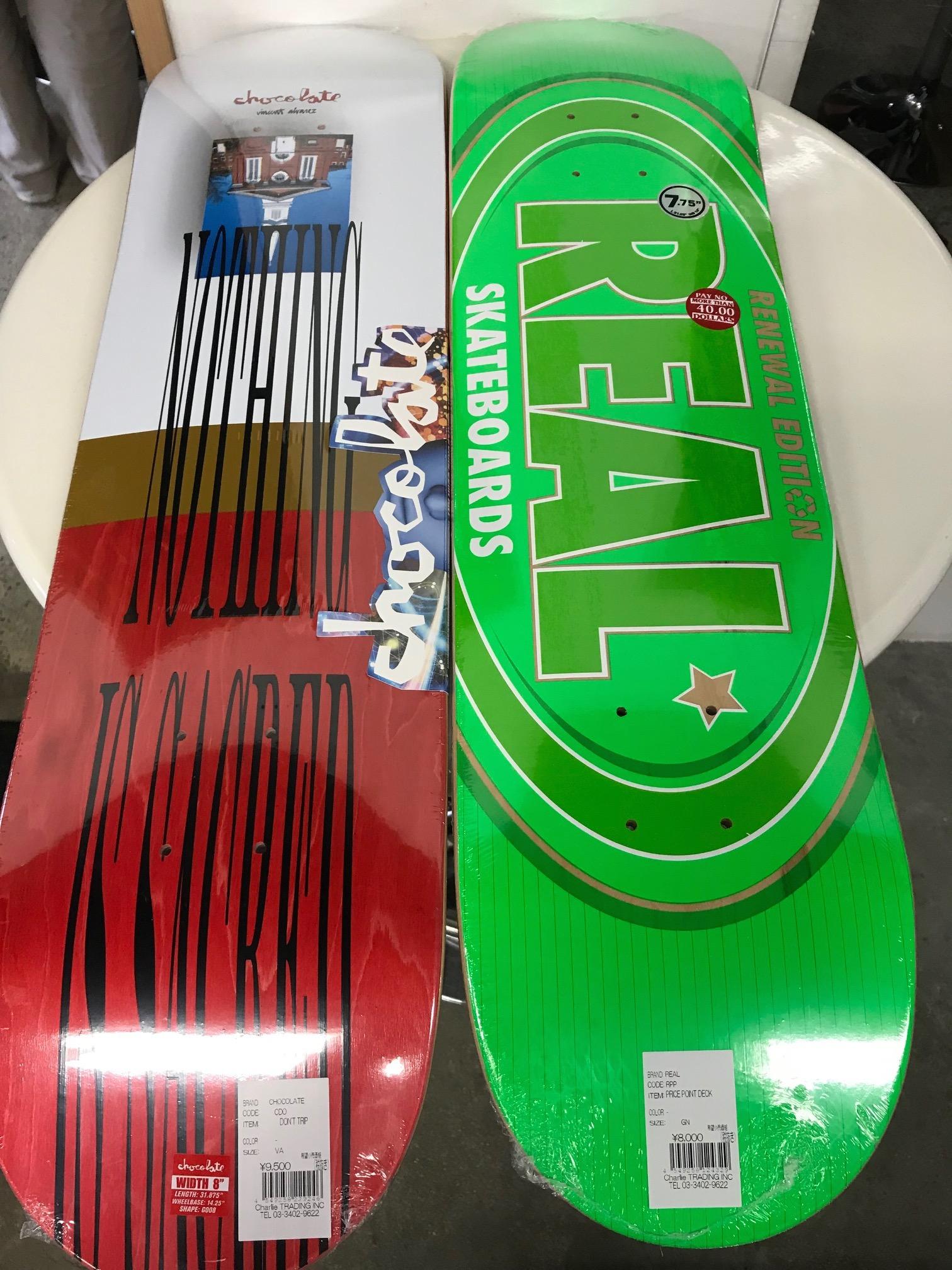スケートアイテム CHOCOLATE、PRIMITIVE Skateboards、REAL、VENTURE、SPITFIRE入荷しました!!