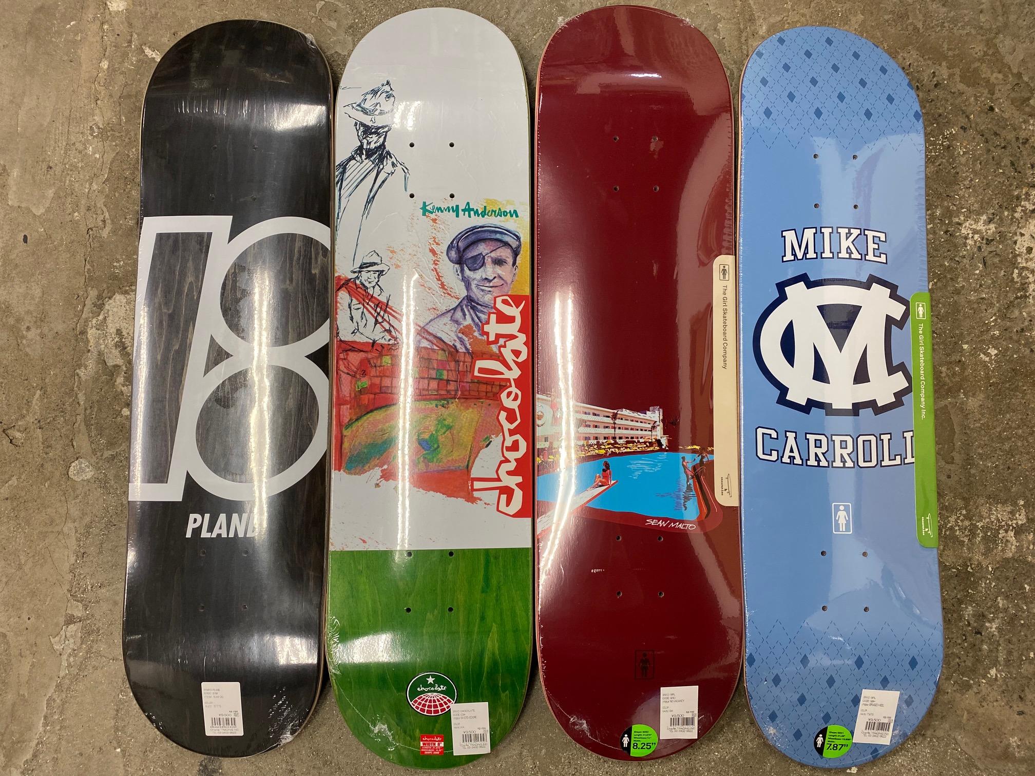 スケートアイテム PlanB、CHOCOLATE、GIRL、SPITFIRE入荷しました!!