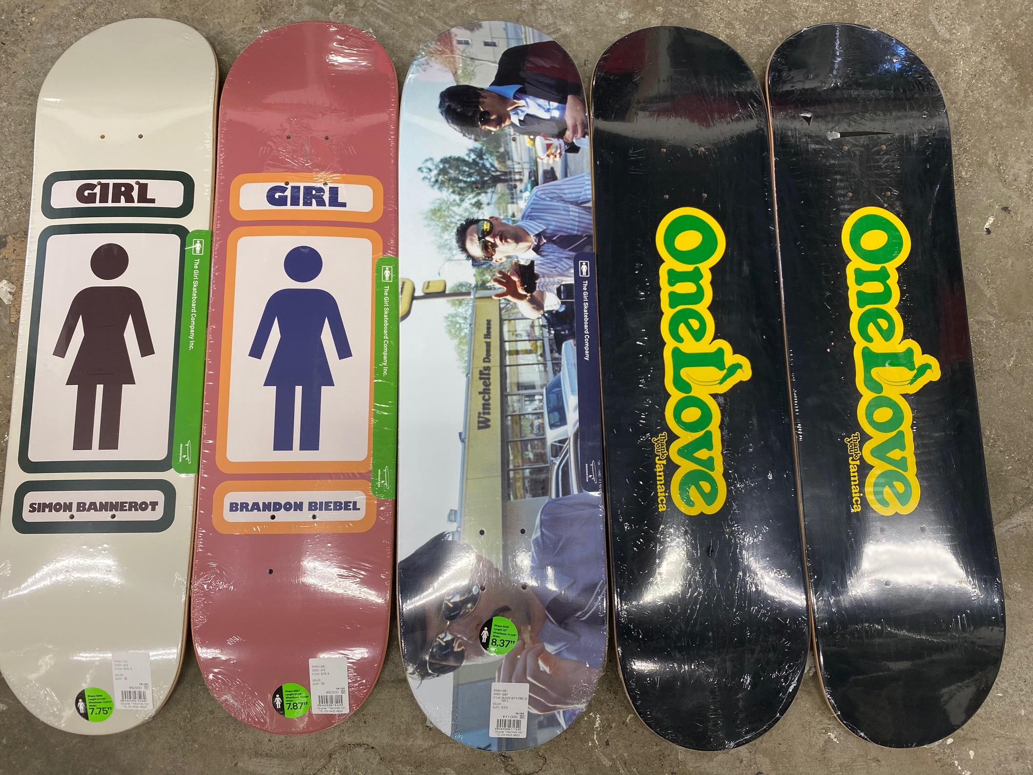 スケートアイテム GIRL、Thank You skateboards 入荷しました!!