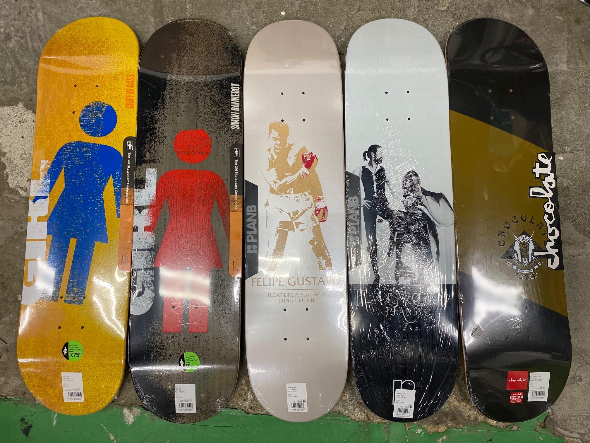 スケートアイテム PlanB、CHOCOLATE、GIRL、THUNDER、SPITFIRE、The Bearing入荷しました!!